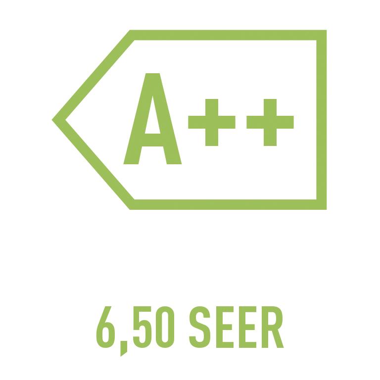 A++ 6,50 SEER