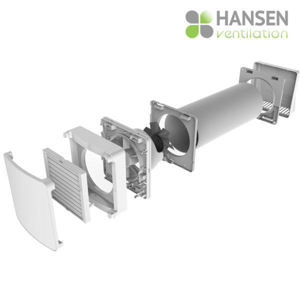 HANSEN ECO Wireless 150  rekuperator lokalno prezračevanje sestava tersus
