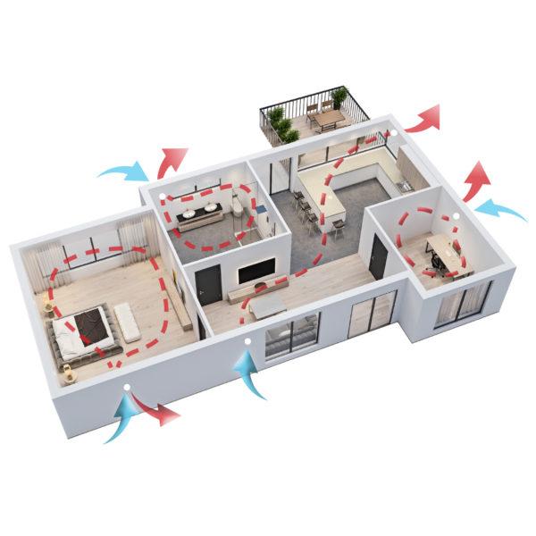 HANSEN ECO Active 100 rekuperator lokalno prezračevanje tersus ambient