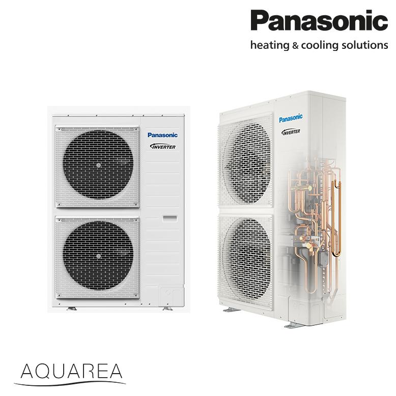 Panasonic, toplotna črpalka, T-CAP, enofazna, 12 kW